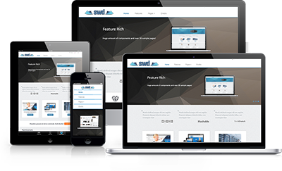 Responsive Websites look great on desktops, laptops, tablets and smartphones