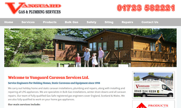 Vanguard Caravan Services Website